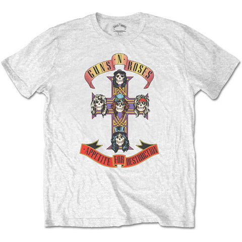 GUNS N ROSES (APPETITE FOR DESTRUCTION) WHITE T-SHIRT