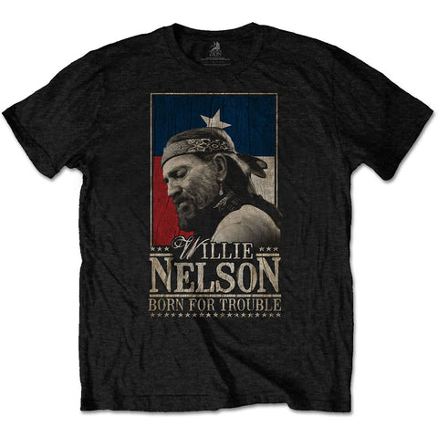 WILLIE NELSON (BORN FOR TROUBLE) T-SHIRT