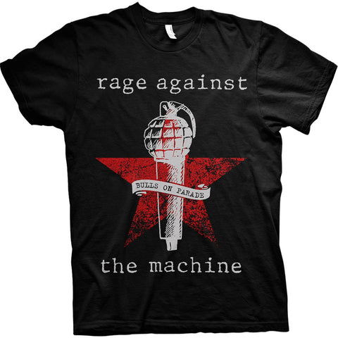 RAGE AGAINST THE MACHINE (BULLS ON PARADE MIC) T-SHIRT