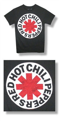 RED HOT CHILI PEPPERS (SCRATCHED LOGO) T-SHIRT