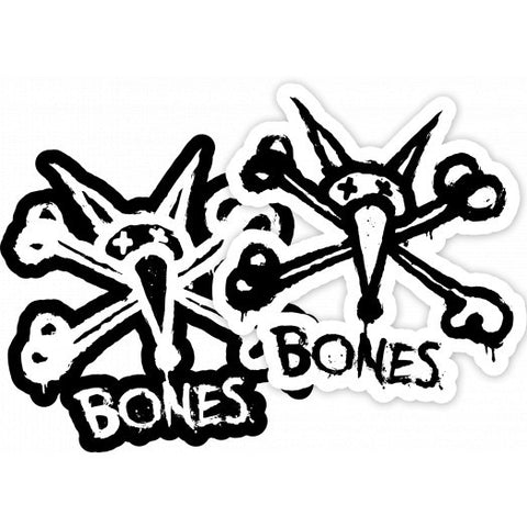 BONES WHEELS Vato Stacked Sticker 4""