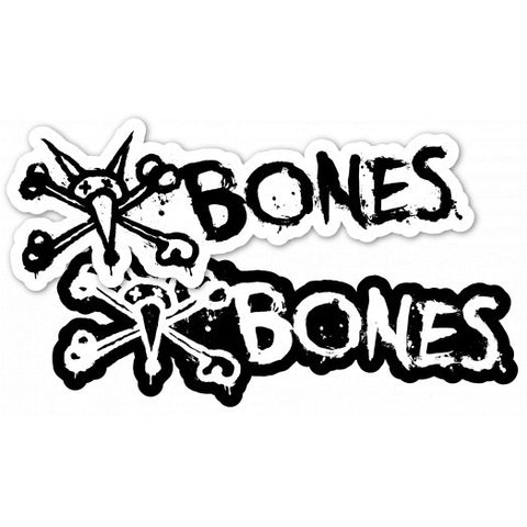 "BONES WHEELS Vato Text 6"" Sticker 20pk"