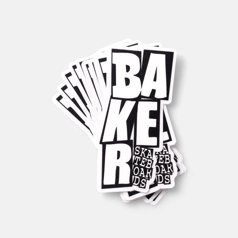 BAKER (STACKED) STICKER