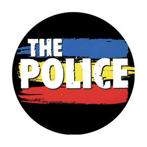 THE POLICE (STRIPPED LOGO) BUTTON