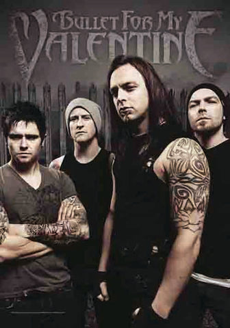 BULLET FOR MY VALENTINE (BAND PHOTO) FABRIC POSTER