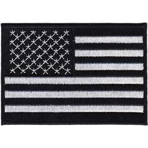 AMERICAN FLAG (BLACK/WHITE) PATCH