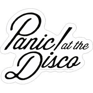 PANIC AT THE DISCO (LOGO) STICKER
