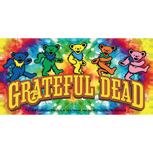 GRATEFUL DEAD (BEARS ON TIE-DYE) STICKER