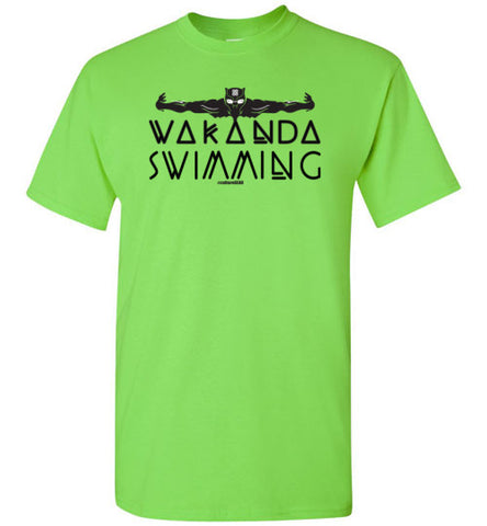 Panther Wakanda Swimming Unisex Tee (multiple colors)
