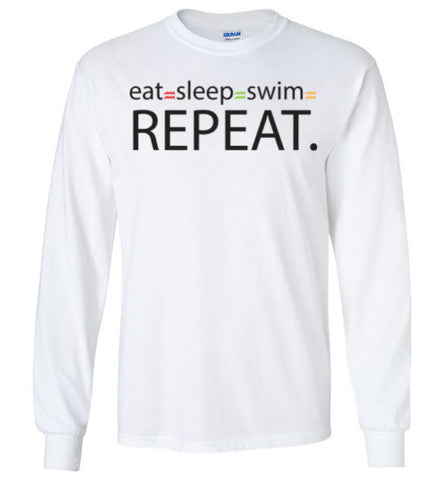 Eat-Sleep-Swim-Long Sleeve