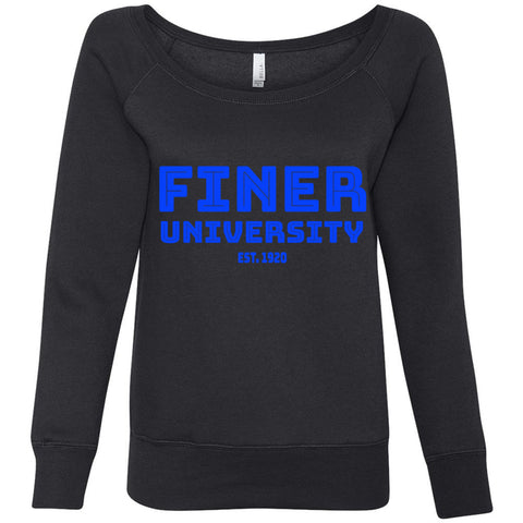 FINER U (multiple colors)- Bella Women's Sponge Fleece Wideneck Sweatshirt