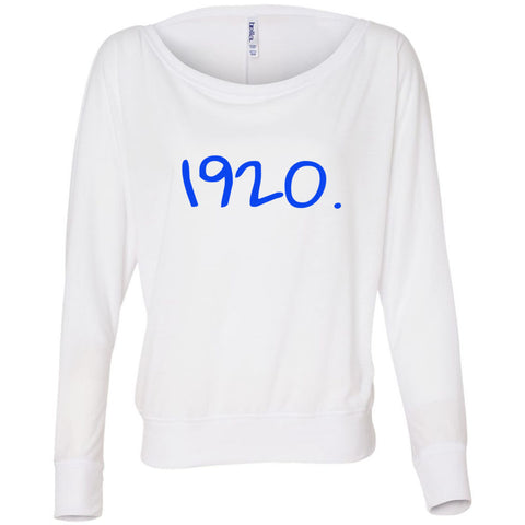 1920. Bella + Canvas - Women's Flowy Long Sleeve Off Shoulder Tee