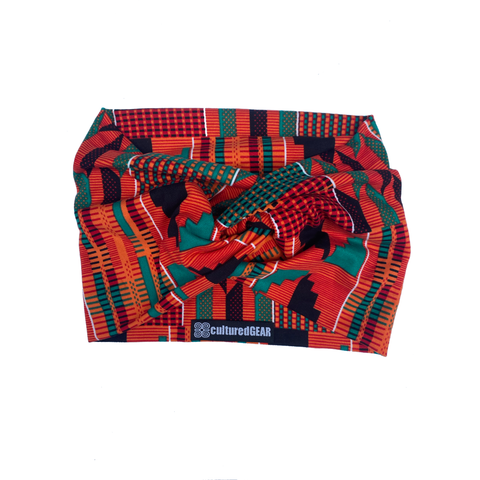 Akoben Nubian Terry Wrap (TM) - Kente Series