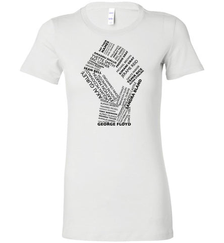 Say Their Names Ladies Tee (BLACK GRAPHIC)