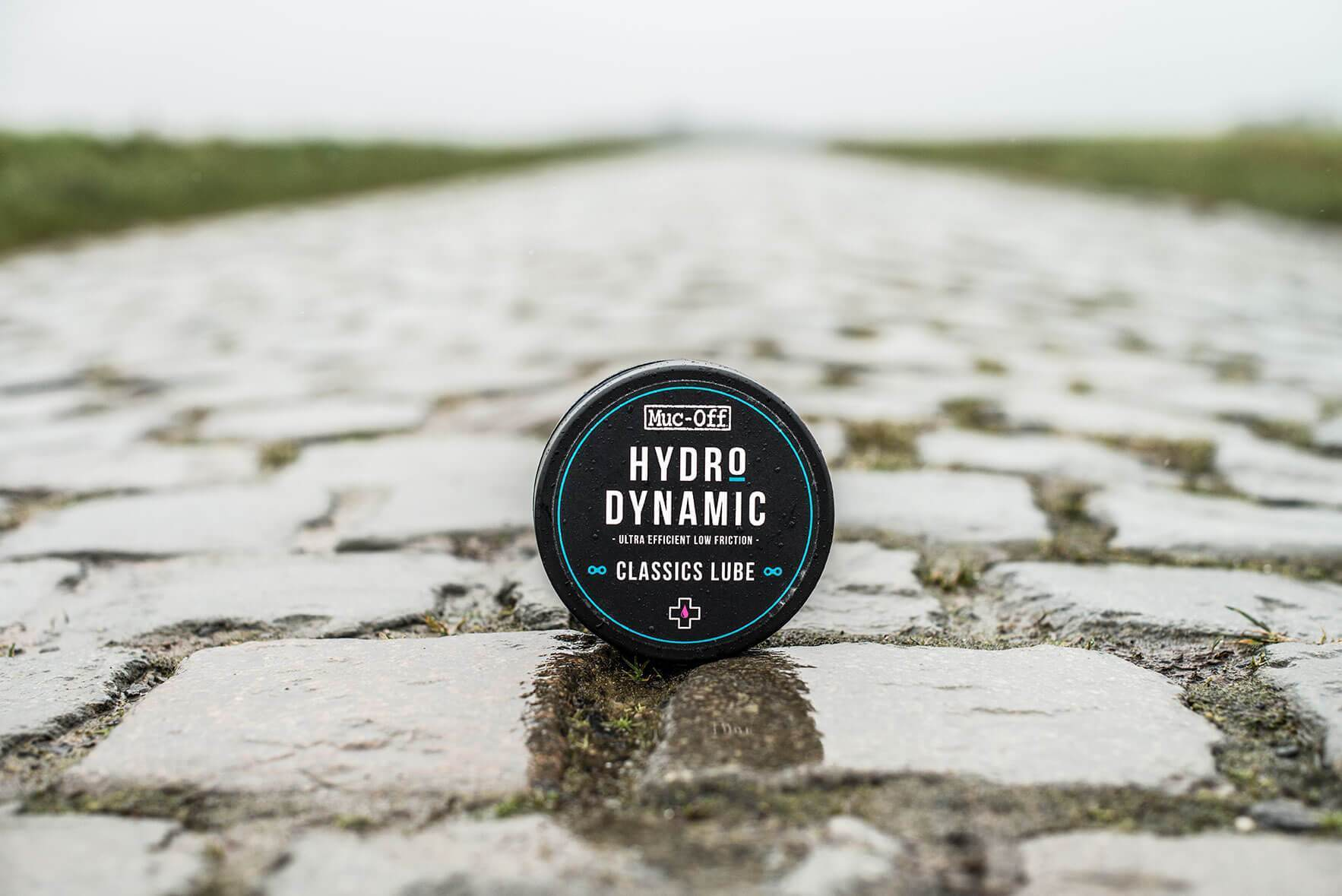 Harsh Conditions Lube packaging on paved road