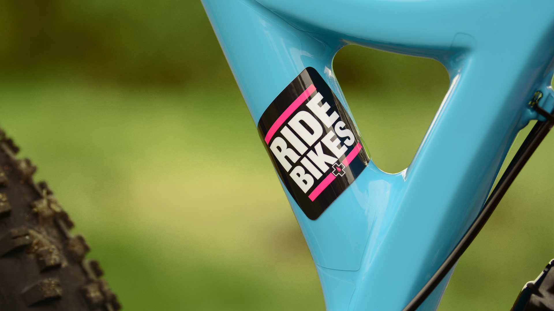 Ride bikes sticker on bike frame