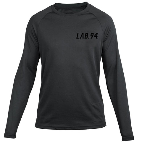 LAB.94 Riders Jersey - Black With Black Logo
