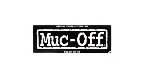 muc-off sticker on white background