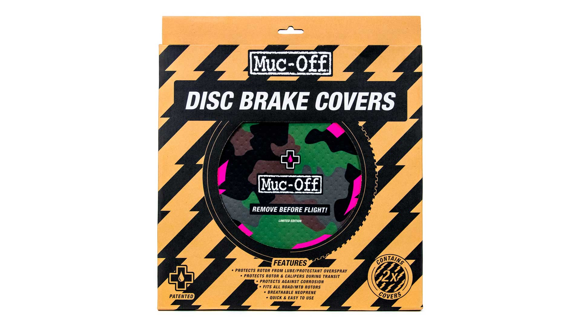 camo disc brake covers in box