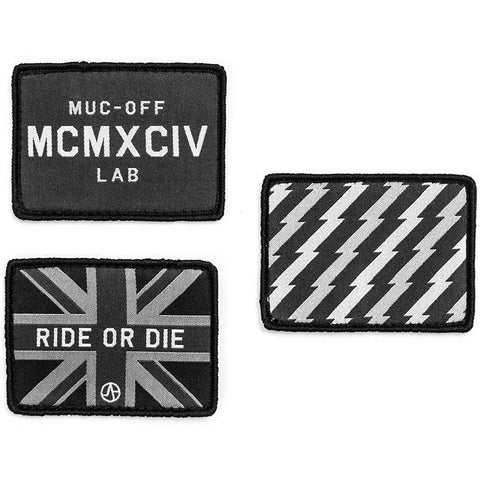 Pack of three patches on a white background