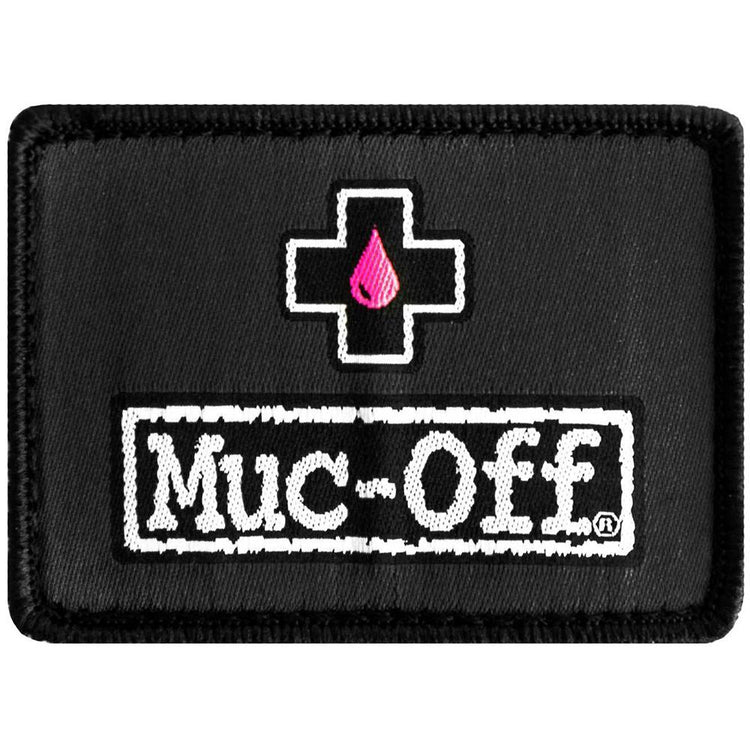 Muc-off logo patch up closer