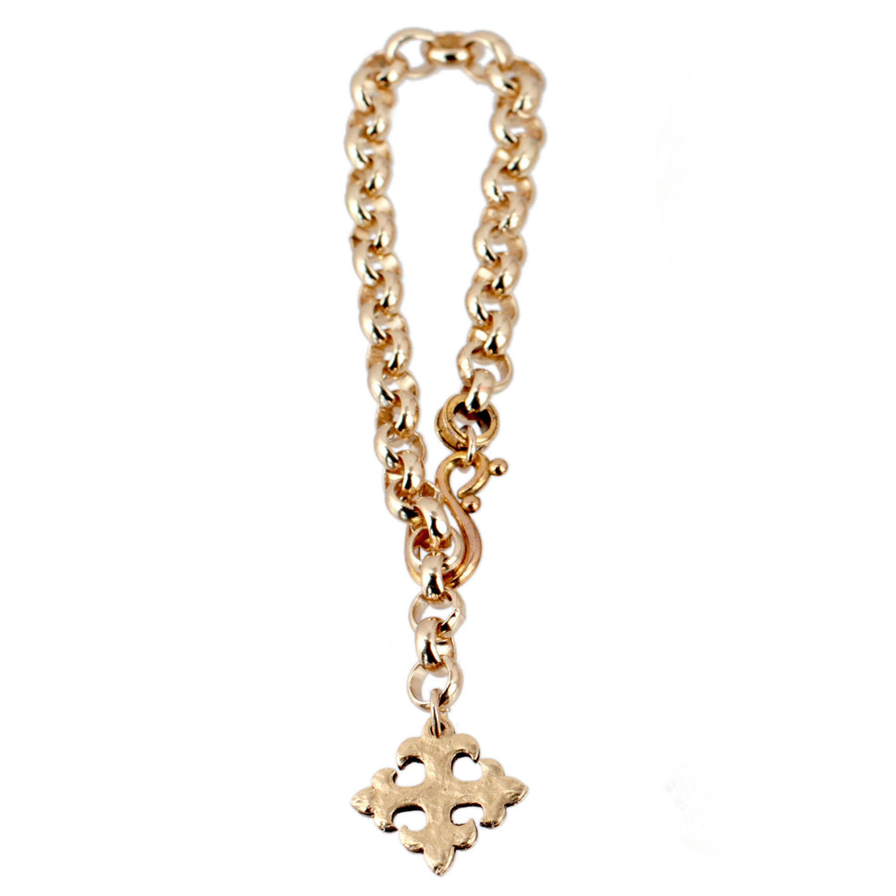 Chunky Gold Celtic Cross Bracelet