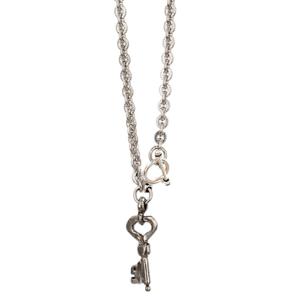 Petite Silver Key Necklace