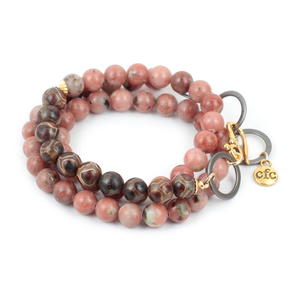 Pink Lepidolite Counting Beads