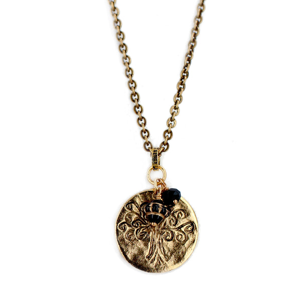 "Jet Black ""Tree of Life"" Necklace"