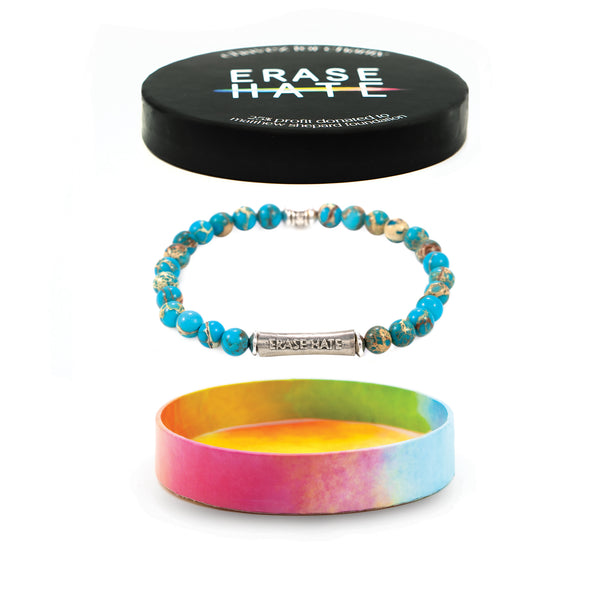 Erase Hate Blue Regalite Bracelet