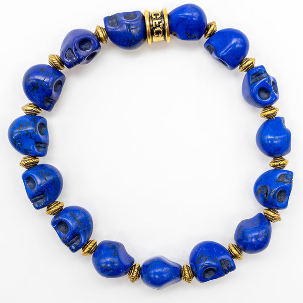 Royal Blue Skull Bracelet