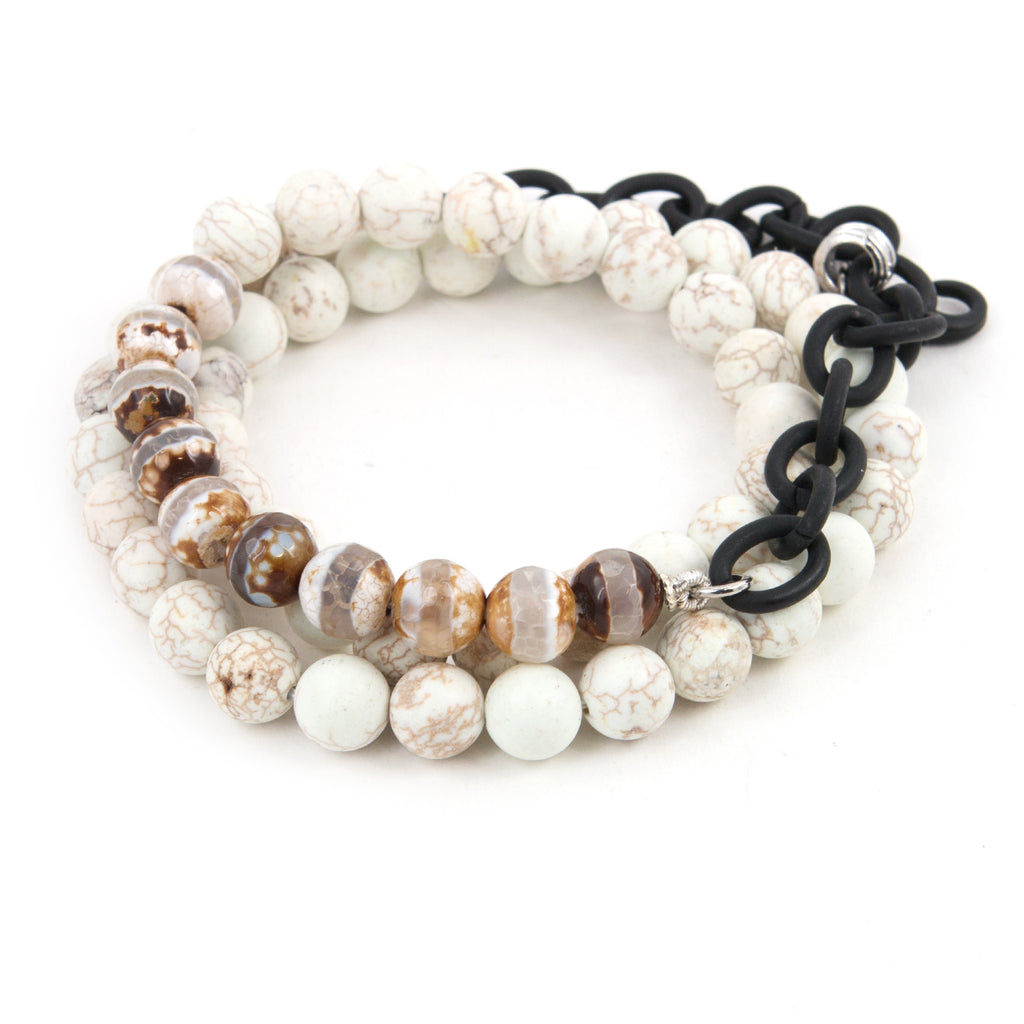 Men's Howlite Counting Beads