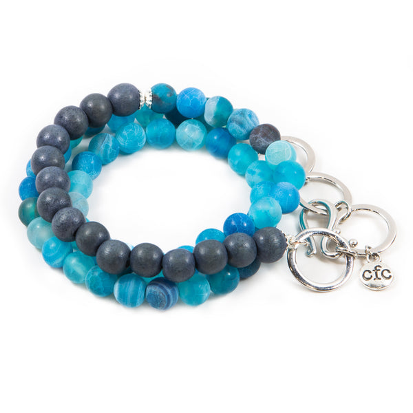 Denim Wood Counting Beads