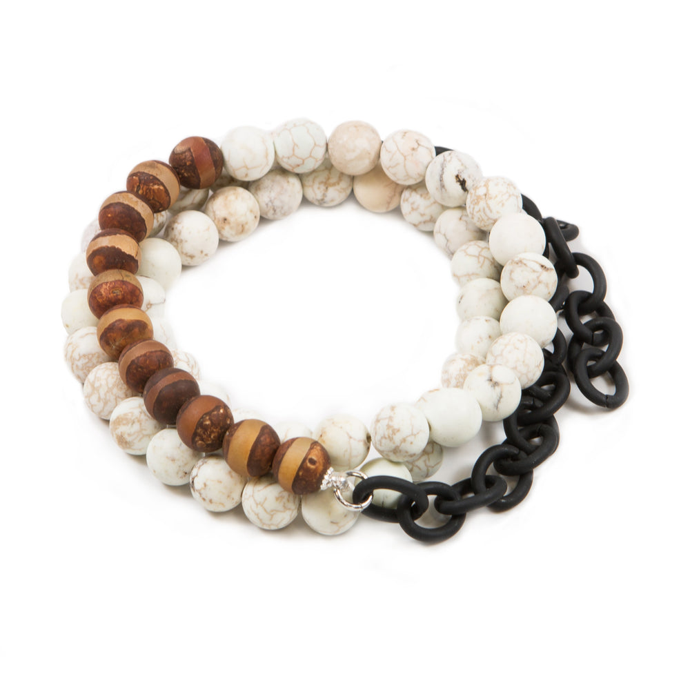 Men's Agate Counting Beads