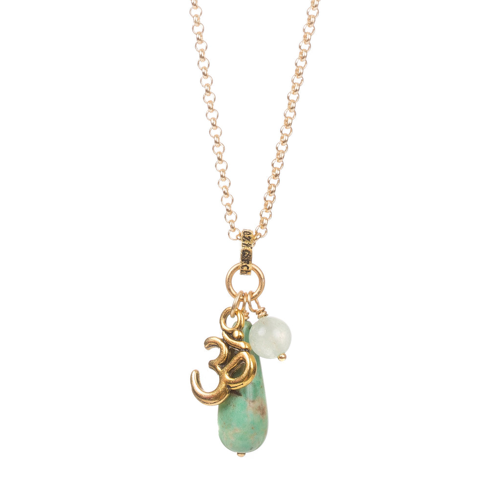 Chrysoprase Ohm Necklace