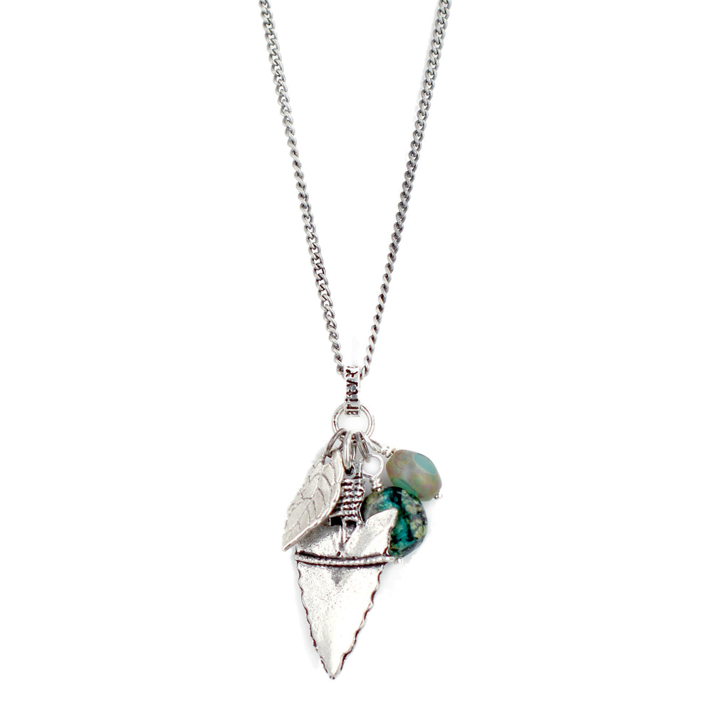 Green Arrowhead Necklace