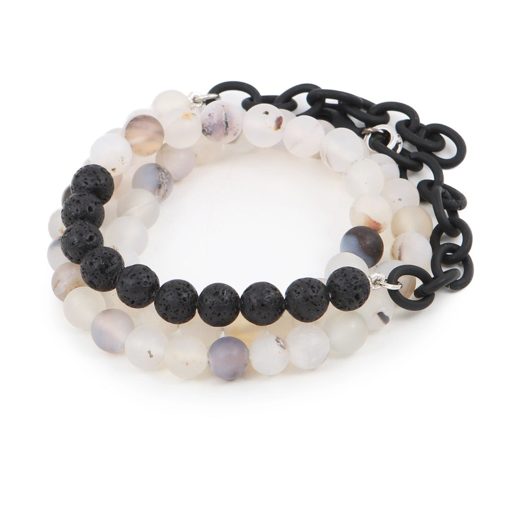 Men's Lava Rock Counting Beads