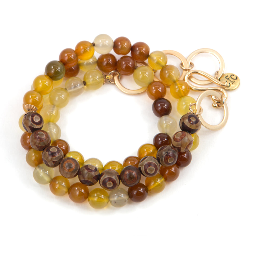 Amber-Tone Counting Bead