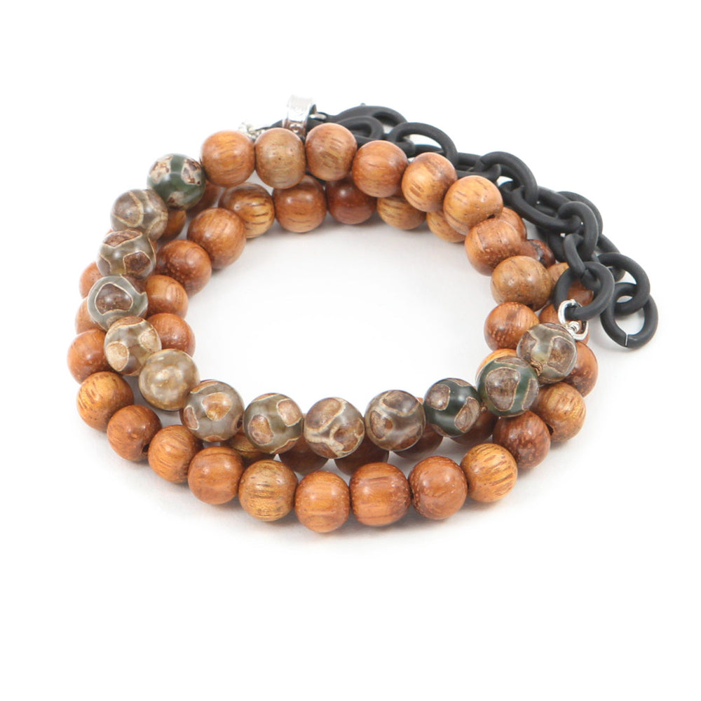 Men's Bayong Wood Counting Beads