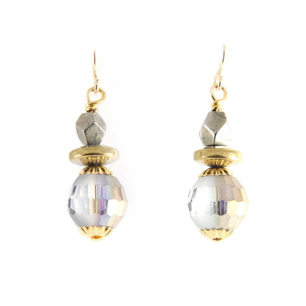 Pyrite Crystal Earrings