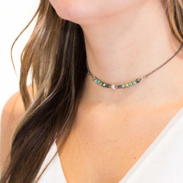 """PEACE"" Choker Necklace"