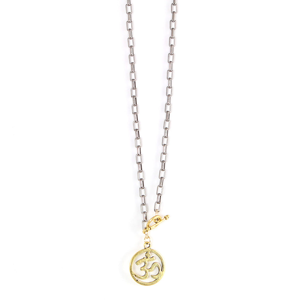 Petite Gold Om Necklace