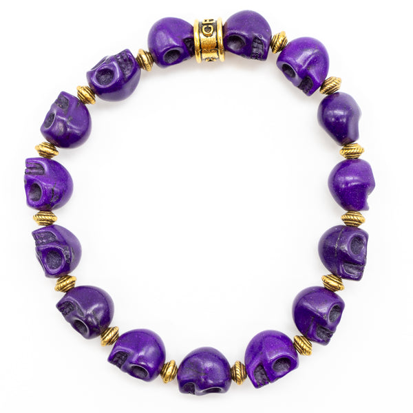 Regal Purple Skull Bracelet