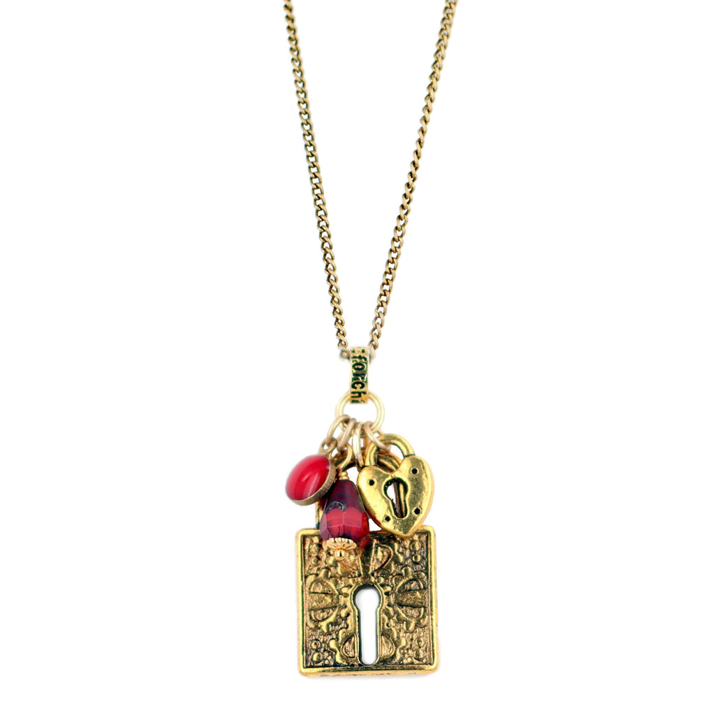 Ruby Lock Necklace