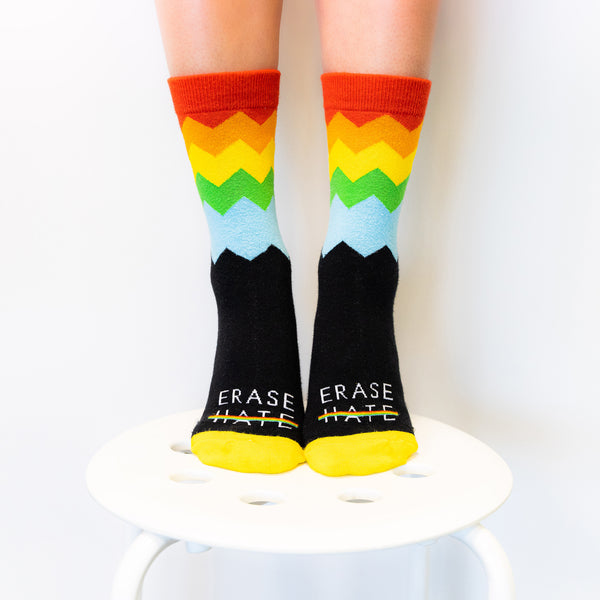 Erase Hate Crew Socks (Women's)