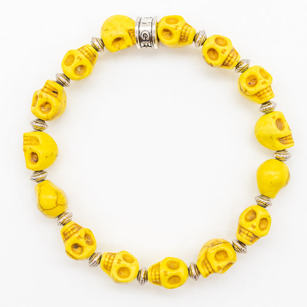 Golden Yellow Skull Bracelet