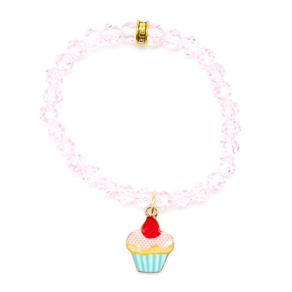 "Kid's ""Perfectly Pink Cupcake"" Bracelet"