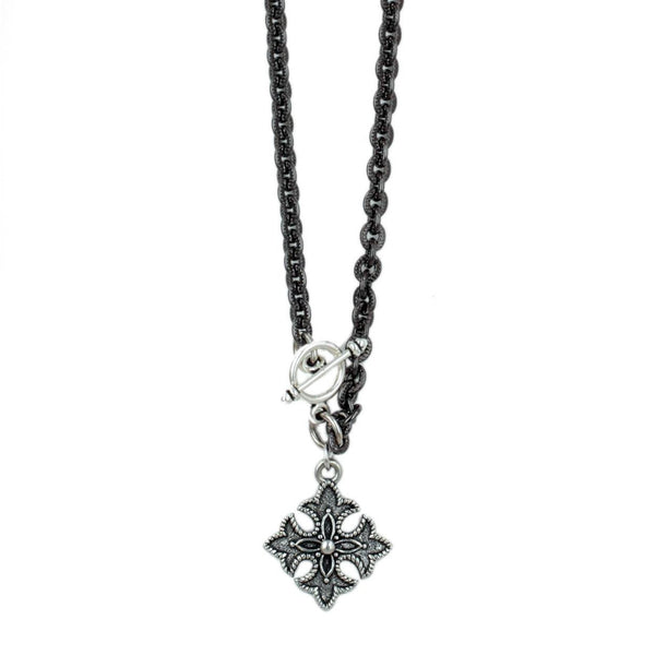 Petite Mixed Metal Celtic Cross Necklace