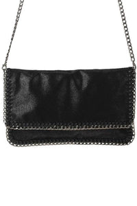 Chain Foldover Clutch - Tres Chic Houston