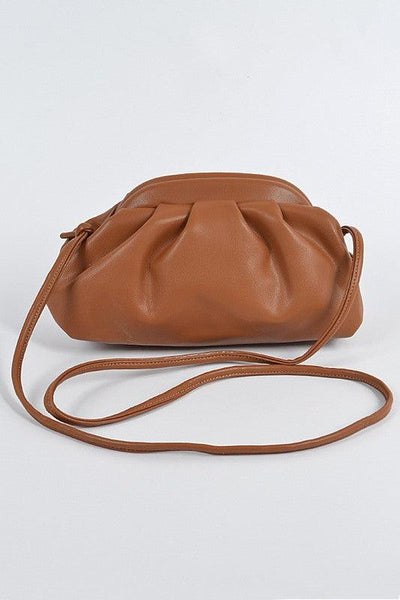 Frame Pleated Cross Body Bag